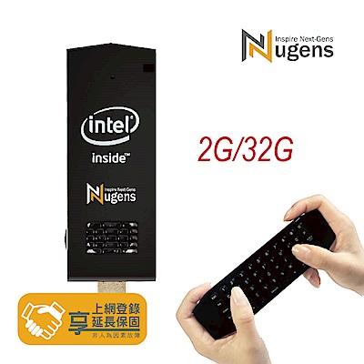 Nugens MiNi PC HDMI 迷你電腦棒+無線語音飛鼠超值優惠組(2G/32G)