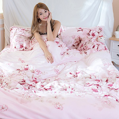 La Lune 台灣製經典超細雲絲絨雙人特大床包枕套3件組 卡諾娜