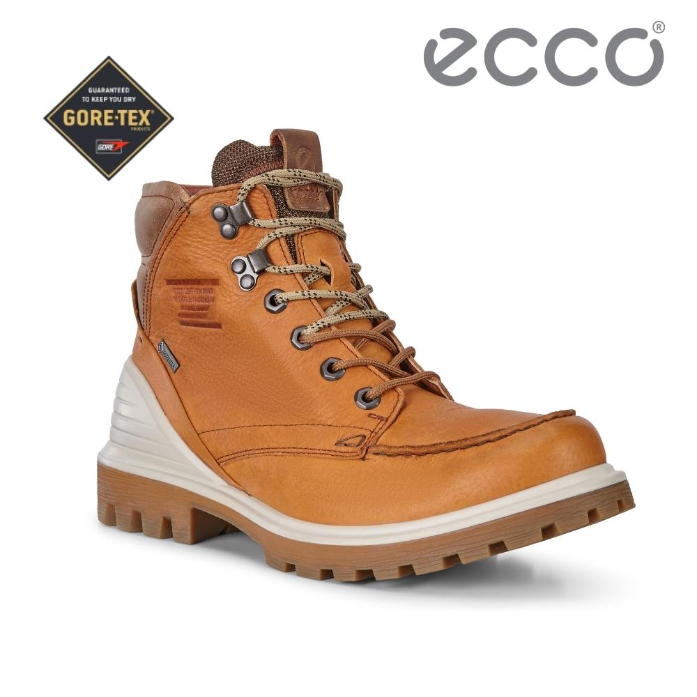ECCO TRED TRAY M 趣闖英式工裝高筒防水靴 男-棕色