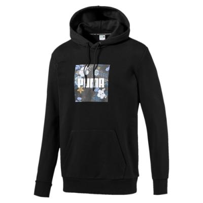 PUMA-男性流行系列Trend長厚連帽T恤-黑色-歐規