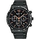 agnes b. 法式三眼計時手錶(BU2004X1)-43mm