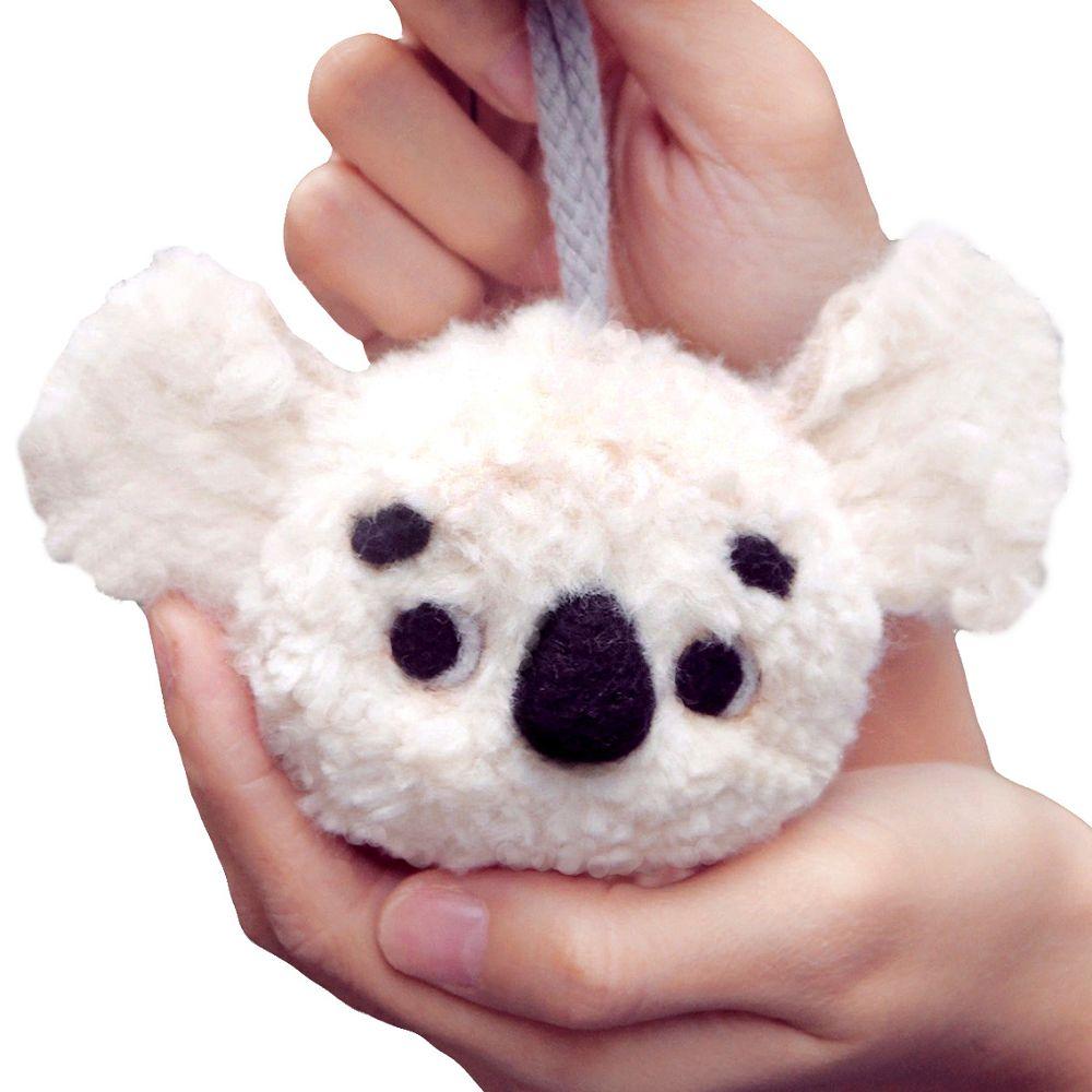 雙手牌-無尾熊羊毛氈材料包-棉花白