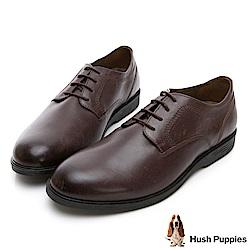 Hush Puppies SHEPSKY 正裝綁帶款皮鞋-深棕