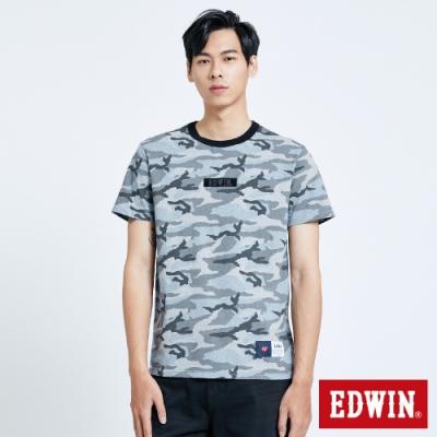 EDWIN EFS滿版迷彩短袖T恤-男-麻灰色