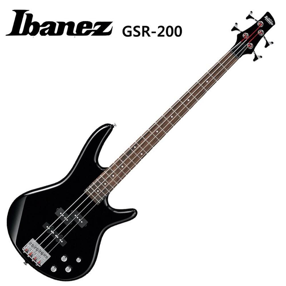 IBANEZGSR-200BK嚴選玫瑰木指板電貝斯~黑色