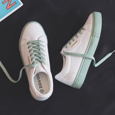 韓國KW美鞋館 時尚活力甜心日系平底鞋-綠