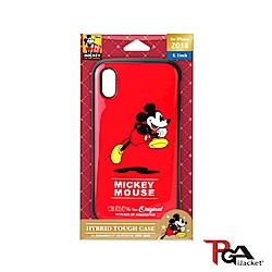 iPhone XR 6.1吋 迪士尼 軍規防摔 雙料殼-米奇(紅)