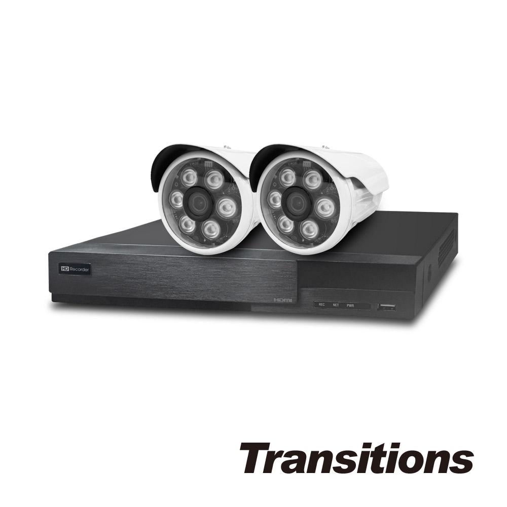 全視線 4路主機(HS-HG4311)+LED攝影機(MB-1080P1)x2顆 台灣製造