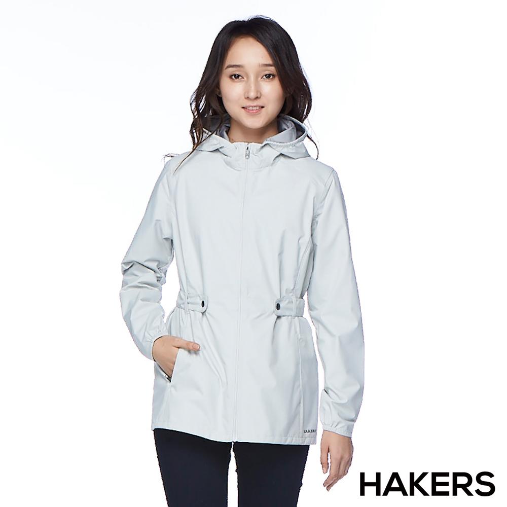 【HAKERS 哈克士】女款 3L輕量休旅外套(銀白)