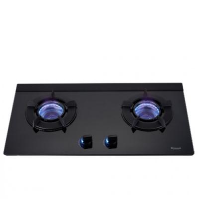 (全省安裝)林內雙口內焰玻璃檯面爐內焰爐鑄鐵爐架黑色LED瓦斯爐桶裝瓦斯RB-N212G(B)_LP