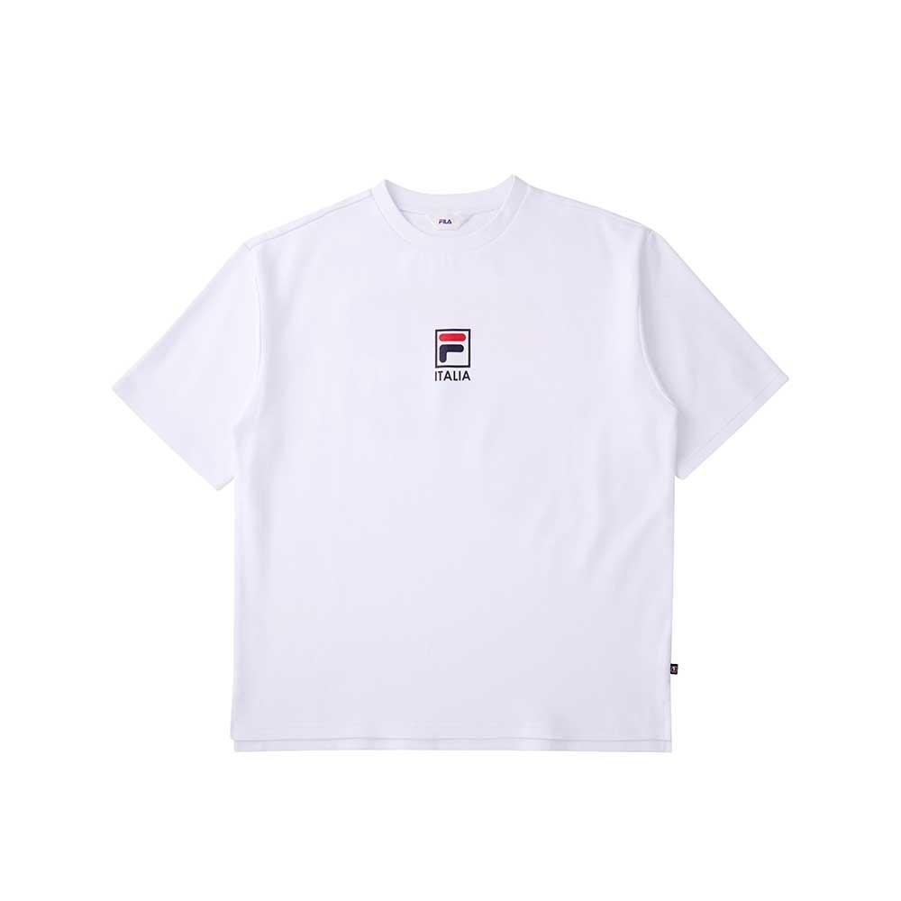 FILA 圓領上衣-白 1TEU-5504-WT