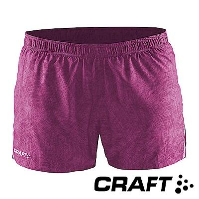 【瑞典CRAFT】女 Focus Race運動休閒短褲『桃紅彩印』1903207