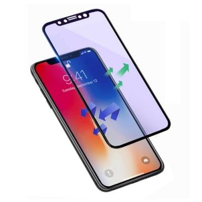 iPhone XS Max 軟邊 滿版 藍紫光 9H 鋼化玻璃膜 保護貼