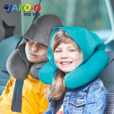 JAKO-O 德國野酷-兒童連帽頸枕(土耳其藍/桃紅)