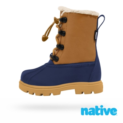 native 大童鞋 JIMMY 3.0 小獵鴨靴-大地棕x藍