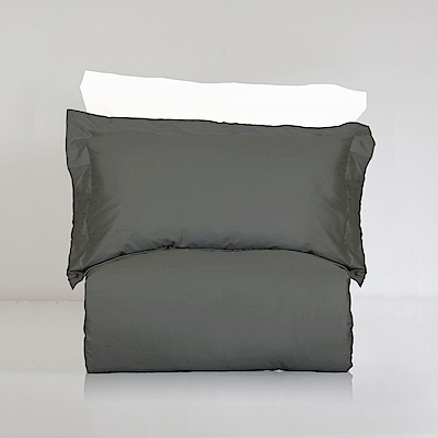 BUNNY LIFE 枕套-爵士灰-絲光精梳棉-純粹系列