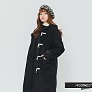 H:CONNECT 韓國品牌 女裝 -雙口袋牛角扣連帽外套-藍(快)