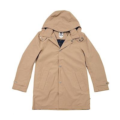 Timberland 男款卡其色中長款風衣外套 | A1W9D918