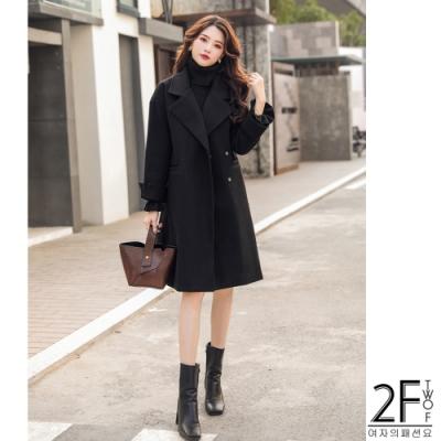 2F韓衣-韓系氣質保暖毛呢大衣-秒