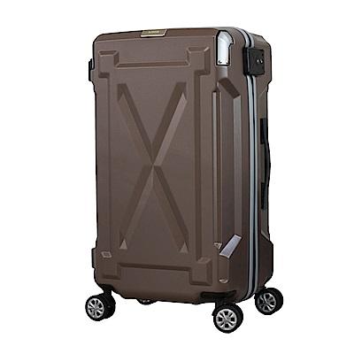 日本LEGEND WALKER 6304-61-24吋 防潑水拉鍊行李箱 消光棕