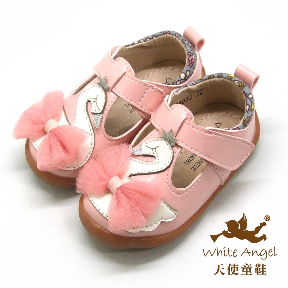 天使童鞋 芭蕾小天鵝娃娃鞋(小-中童) i8033-粉