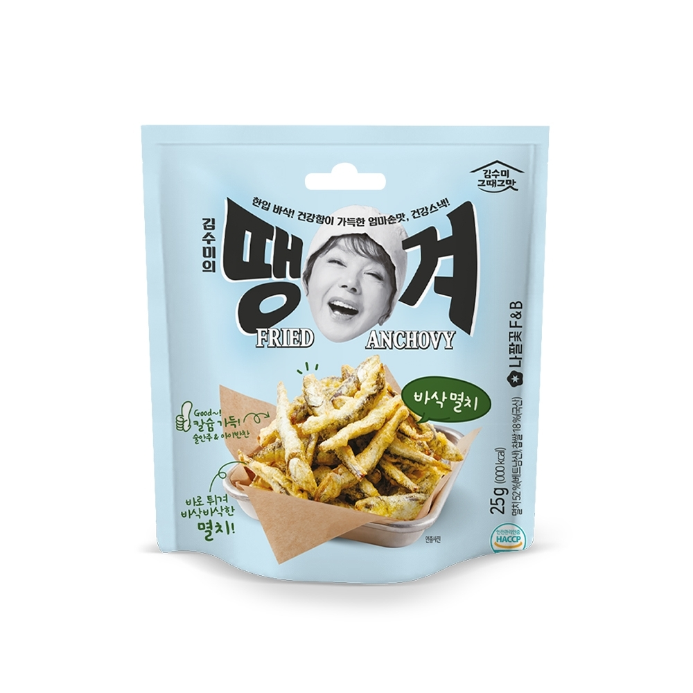 韓味不二【韓國原裝】金守美鯷魚餅乾(35g)