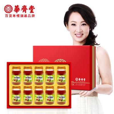 華齊堂 成人葡萄糖胺飲+龜鹿四珍禮盒(60mlx10瓶)1盒