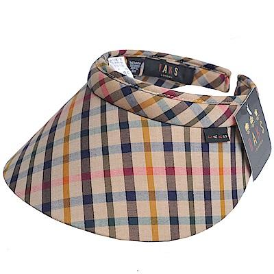 DAKS 經點格紋運動型遮陽帽(卡其格/五色格)