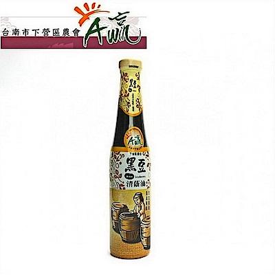 台南下營區農會 黑豆清蔭油(420ml)