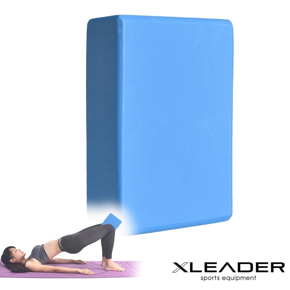 Leader X 環保EVA高密度防滑 素面瑜珈磚 水藍