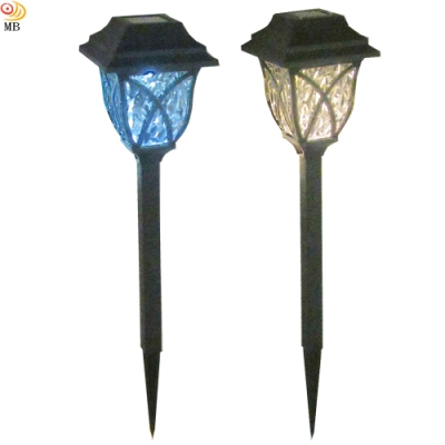 月陽超值2入歐風太陽能自動光控LED庭園燈草坪燈插地燈(EU43102)