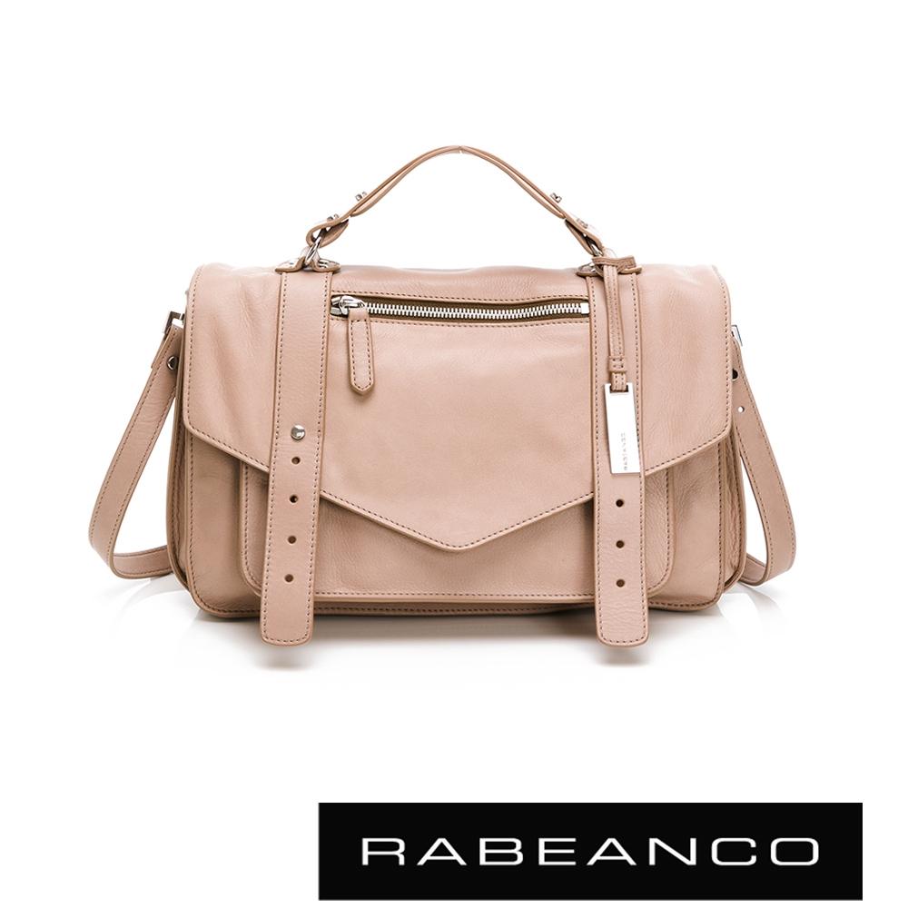 RABEANCO Modern現代美學系列雙飾帶包(小) 杏
