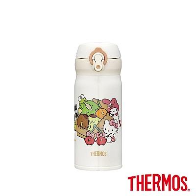 膳魔師 三麗鷗家族x熱帶水果鳥 輕量彈蓋保溫瓶0.35L(JNL-350)