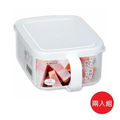 日本製 Nakaya K591-1 純白單耳長方型保鮮盒 650mL 2入組