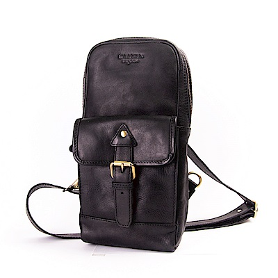 CALTAN 休閒時尚 單肩/斜背兩用真皮包(5306ht-bk)
