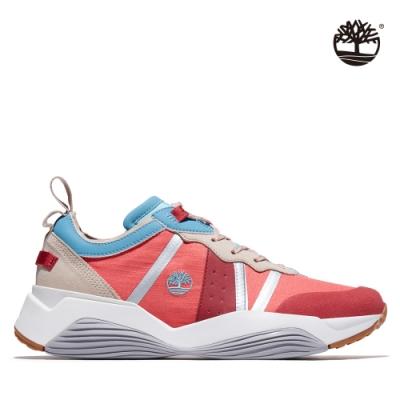 Timberland 女款暗粉色織物拼接休閒鞋|A237S