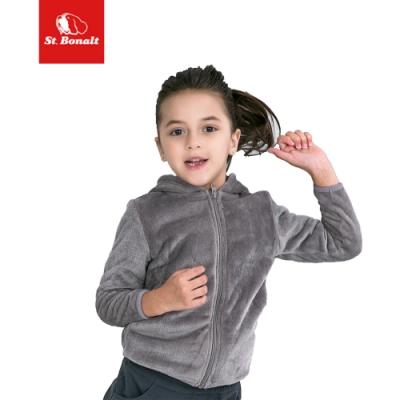 【St. Bonalt 聖伯納】連帽式法蘭絨外套│童款-7272