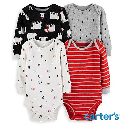 Carter's 聖誕動物4件組包屁衣