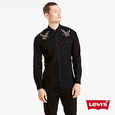 Levis 男款 牛仔襯衫 方形休閒雙口袋 老鷹刺繡