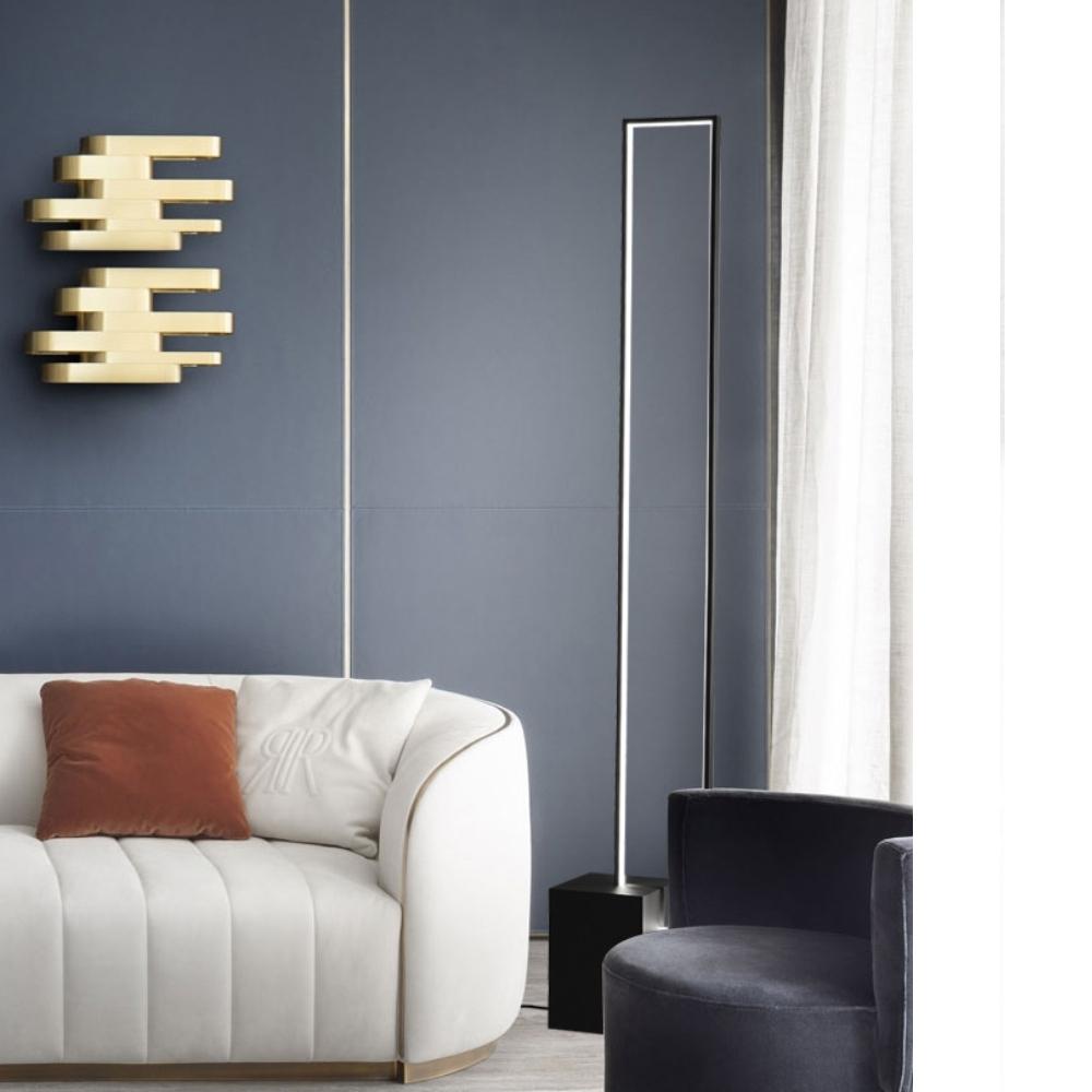 H&R安室家 虛實方塊LED落地燈ZA0190