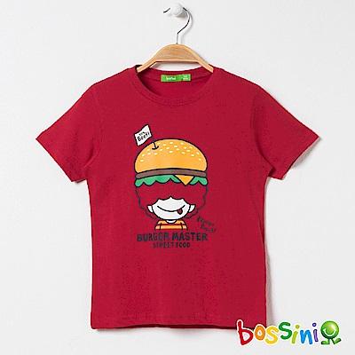 bossini男童-印花短袖T恤14紅色