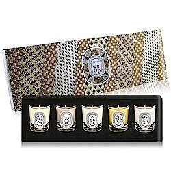 DIPTYQUE 聖誕限量蠟燭禮盒35gX5[炭木香+琥珀+香脂+安息香+紅沒藥]