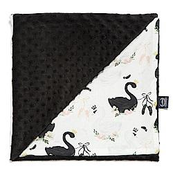 La Millou 單面巧柔豆豆毯(加大款)嬰兒毯寶寶被毯-芭蕾舞天鵝(法蘭黑炫風)