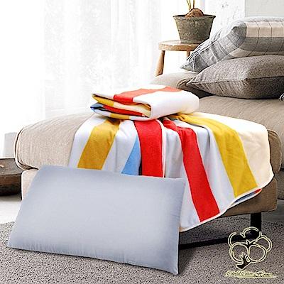 采棉居寢飾文化館 竹炭枕、條紋四季毯 超值組