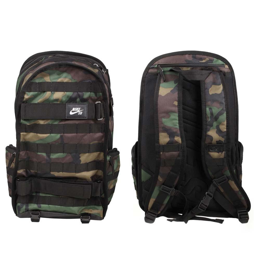 NIKE 大型後背包-滑板包 雙肩包 旅行包 肩背包 筆電包 15吋筆電 CK5888-010 迷彩黑