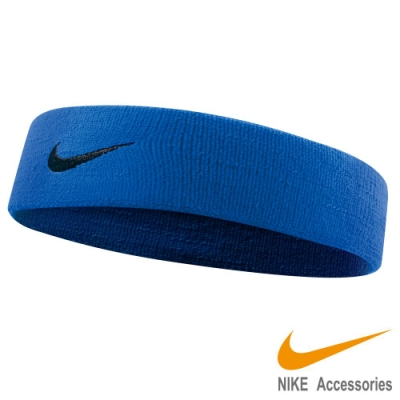 NIKE 單色彈性頭帶2.0-藍