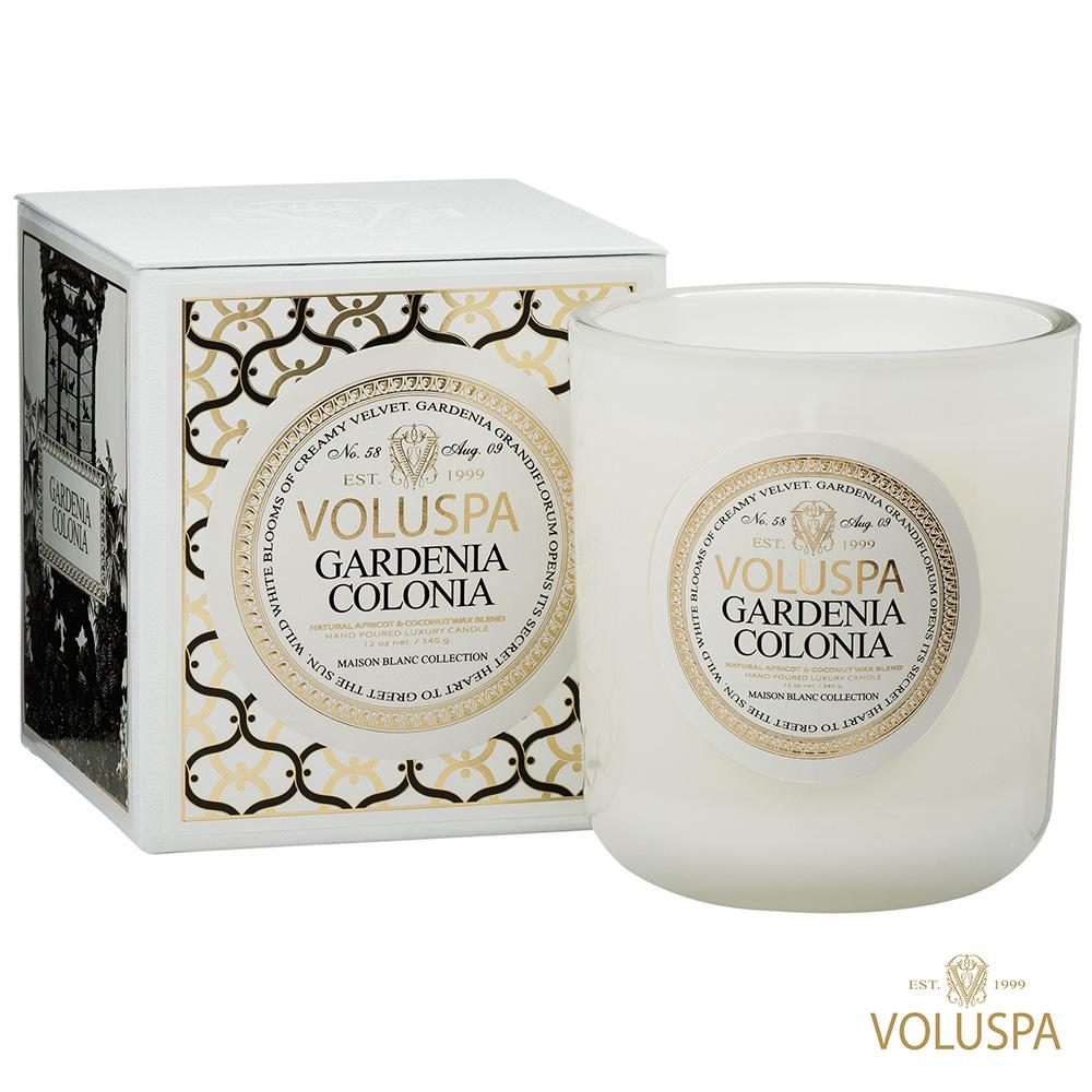美國香氛VOLUSPA 白屋系列 Gardenia Colonia 梔子花園 340g