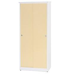 綠活居 阿爾斯環保2.8尺塑鋼二門高鞋櫃(12色)-83x42x180cm免組