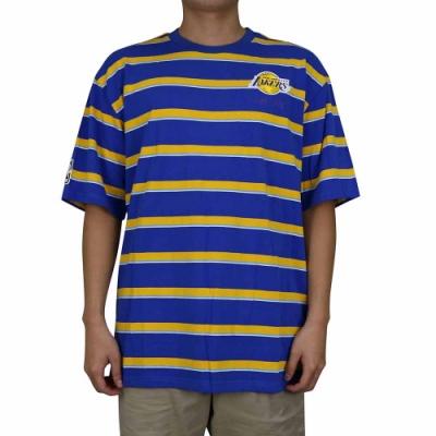 NBA Style C S T-SHIRTS 跳色條紋 短袖上衣 湖人隊