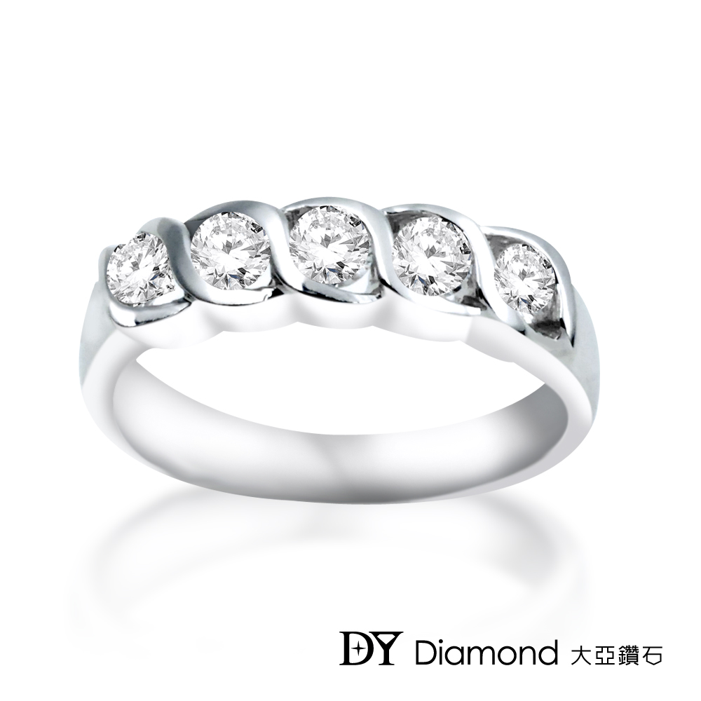 DY Diamond 大亞鑽石 18K金 時尚造型鑽石線戒